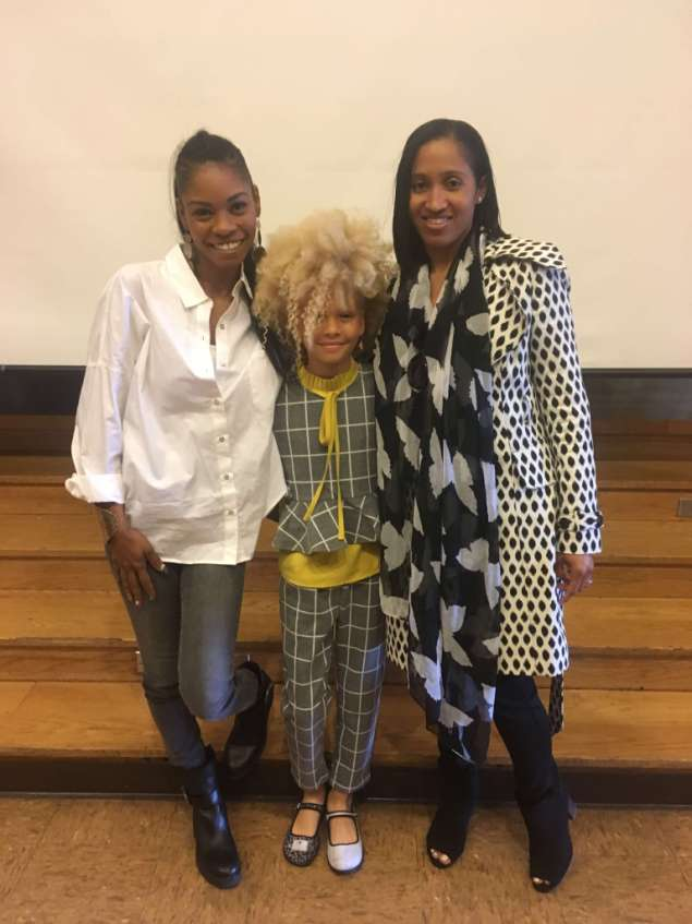 The author with Lyric Wilson and her mother, Heather.